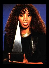 Donna Summer with award